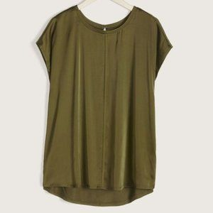 Additionelle | Short-Sleeve Mix Media Blouse